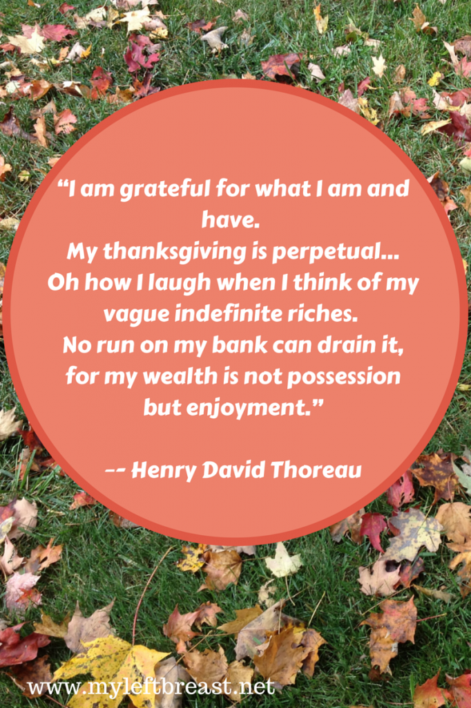 """I am grateful for what I am and have."