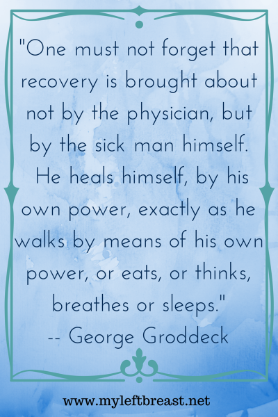 -One must not forget that recovery is