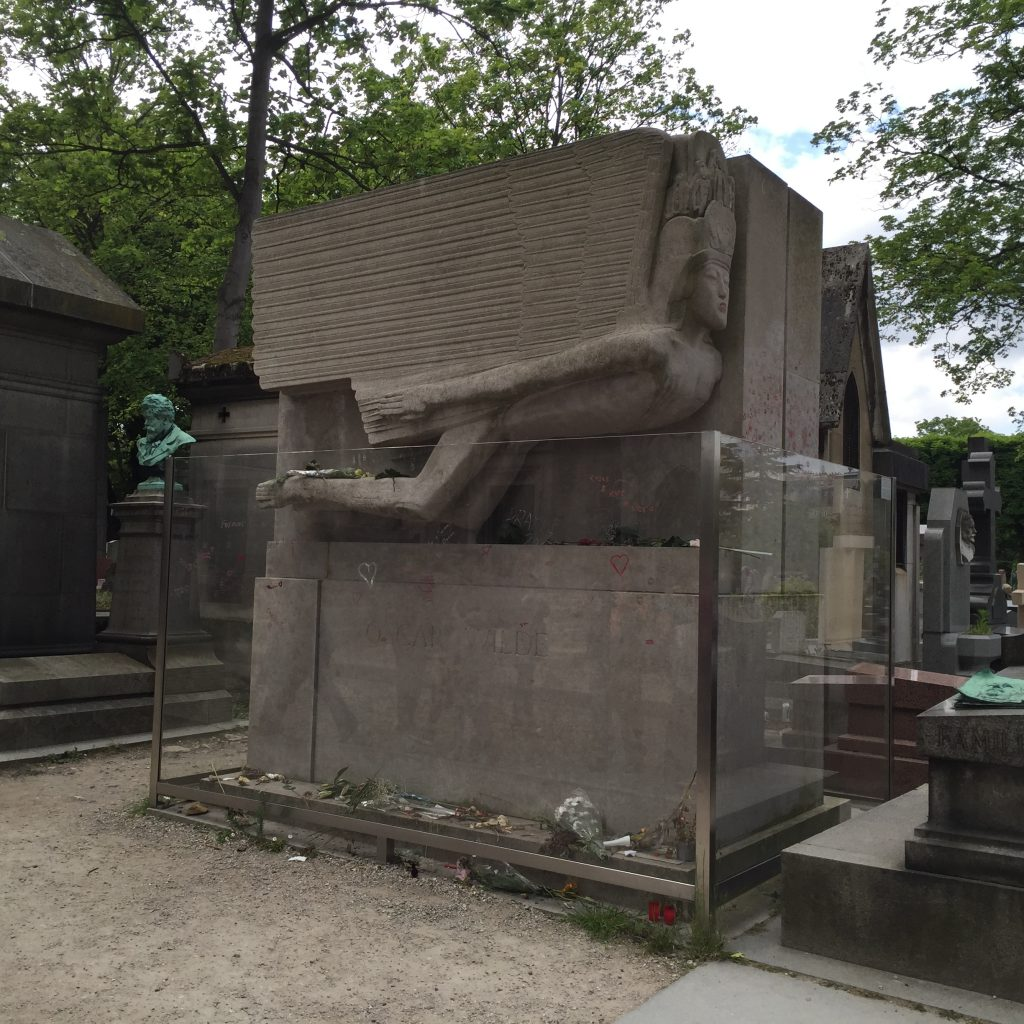 The beautiful grave site of Oscar Wilde.