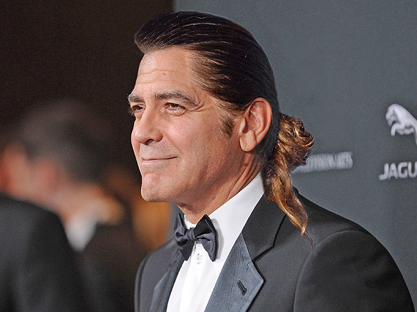 Silliest idea of all. George Clooney sporting Jared Leto's bun.