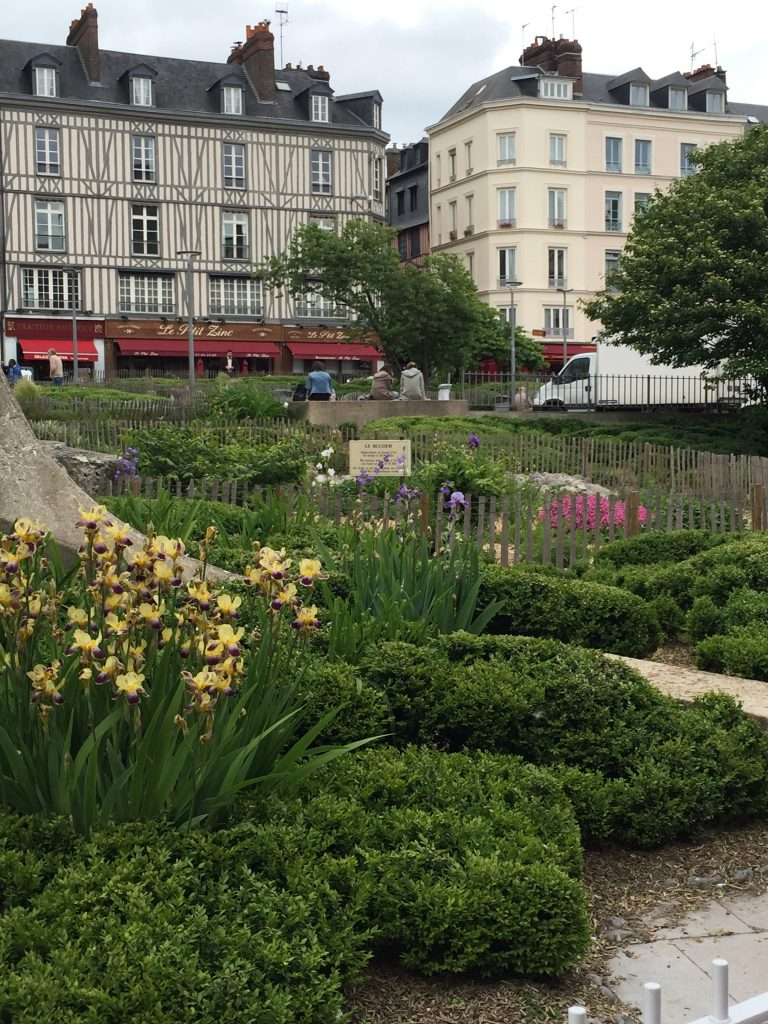 This very humble square is the site where Joan D'Arc was burnt at the stake.