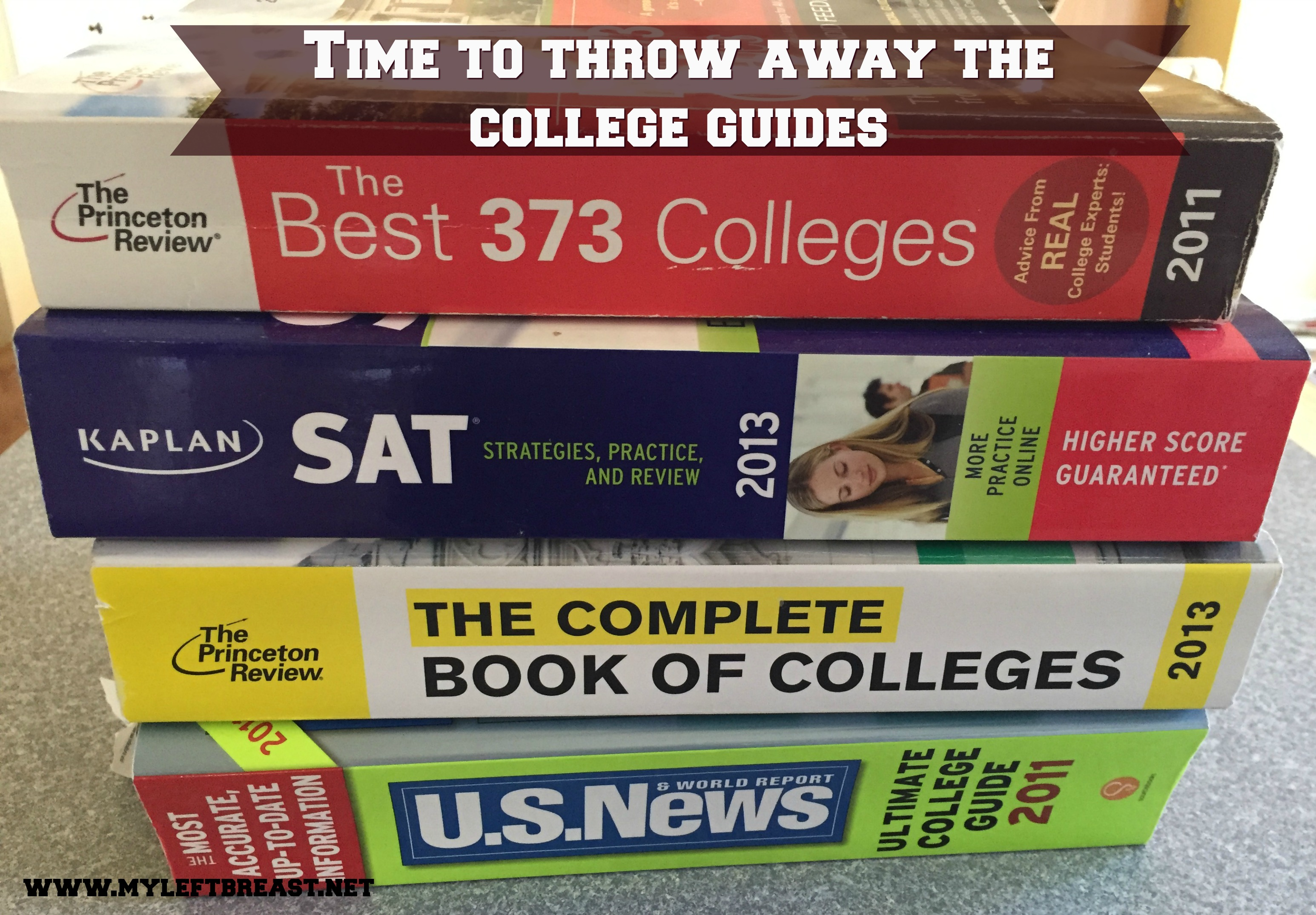 Time To Throw Away the College Guides